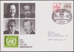 Berlin 1981. Privatganzsache, Entier Postal Timbré Sur Commande. Naposta. ONU. Nobel, Lie, Thant, Waldheim, Hammarskjöld - ONU