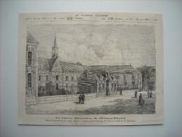 GRAVURE 1879. LE NOUVEL HOTEL-DIEU DE CHATEAU-THIERRY............ - Estampes & Gravures