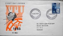 Denmark 1965 Cz.Salania FDC( ITU) Union De Télécommunicati / Telecommunications Union MiNr.431x ( Lot 1957 ) - FDC