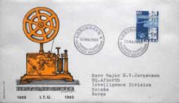 Denmark 1965 Cz.Salania FDC( ITU) Union De Télécommunicati / Telecommunications Union MiNr.431x ( Lot 1957 )FOGHS COVER - FDC