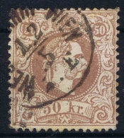 Austria: 1867   Yv Nr 38 A  Perfo 13  CV 200 Euro Used  Obl - 1850-1918 Impero