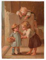RARE Chromo Testu & Massin A L´asile Orphelin Jeu Enfant Blessé Serre Tête Pansement Chambre Lit écolier Livre Goûter - Chromos