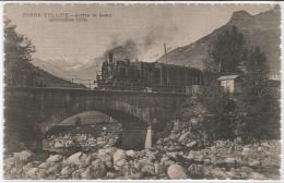 CARTOLINA ARRIVO DEL TRENO TORRE PELLICE    VIAGGIATA - Trains