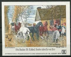 """(cl 21 - P28) Danemark ** Bloc N° 4 - """"Hafnia 76"""" Expo Philat. Tableau D'Otto Bache's (chevaux) - - Blocs-feuillets"""