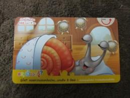 Prepaid Phonecard,Snail,used - Thailand