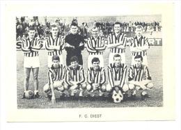 Chromo/Photo (8,5 X12,5 Cm) - Equipe De Football Belge - F.C. DIEST (b159) Joueur, Sport, Ballon - Football
