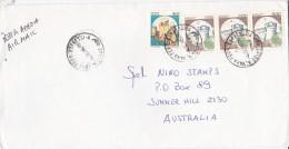 Italy 1986 Cover Sent To Australia With 500 Lire Strip 3 And 50 Lire Castle - 6. 1946-.. Repubblica