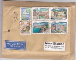 Italy 1993 Cover Sent To Australia With  600 Lire Tourism 100 Lire Castle And 2000 Lire - 6. 1946-.. Republic