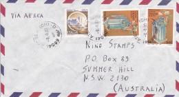 Italy 1993 Cover Sent To Australia With 150 Lire Castle And 600 Lire X 2 Orazio Flacco - 6. 1946-.. Republic