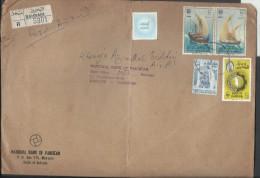 Bahrain Registered Airmail 1979 Ghanja Dhow, Boom,  Kotia, 1974 WAR TAX STAMP, 1976 Sheik Isa Postal History Cover - Bahrain (1965-...)