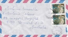 Italy 1994 Cover Sent To Australia With  750 Lire Pair Montecassino Abbey - 6. 1946-.. Republic