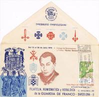 11455. Carta Exposicion BARCELONA 1973. Guardia De Franco, Falange, Jose Antonio - 1931-Aujourd'hui: II. République - ....Juan Carlos I