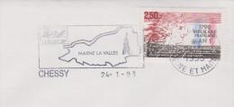FRANCE, Disney, Chateau, Parc Eurodisney, Marne La Vallee, Chessy, 1993 - Disney