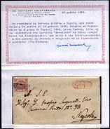 Gioia (del Colle)-00320 - Interessante Piego (senza Testo) - Leggere Il Certificato Del Dottor G. Chiavarello. - Napoli