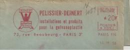 Livre, Imprimerie, édition, Galvanoplastie - EMA Secap - Enveloppe Entière  (P353) - Berufe