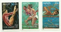 1984 - Malta 691/93 Olimpiadi Di Los Angeles^ - Summer 1984: Los Angeles