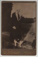 Cabinet Photo - Lady With Cat - S. H. Greenway - Northampton And Daventry - Alte (vor 1900)