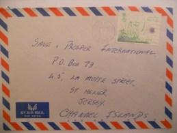 Brunei Lettre De 1985 Pour Jersey - Brunei (1984-...)