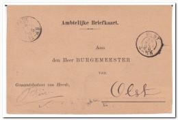 Nederland Ambtelijke Briefkaart 1895, Stempel Olst En Heerde - Periode 1891-1948 (Wilhelmina)