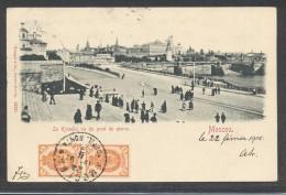 8254-MOSCOU-LE KREMLIN VU DU PONT PIERRE-1901-ANIMATION-FP - Russia