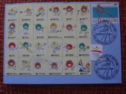 Luxembourg Mxc 1992-07-25 Barcelona Olympics Maximum Card Tennis Tennisplayer M & M Badminton Hockey Cycling A 4,50 Euro - Tennis