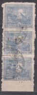 "INDONESIA  1946  5  SEN STRIP Of  3  FINE CANCEL ""BLITAR"" - Indonesia"