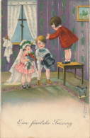 """ENFANTS - Jolie Carte Fantaisie Enfants Cérémonie De Mariage """"Eine Feierliche Frauung """" Signée HP - HANNES PETERSEN - Petersen, Hannes"""