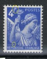 """Iris N° 656**_petit """"y"""" Sur """"E"""" Et Blanc Sur """"F""""_3 Scans - Variétés: 1941-44 Neufs"""