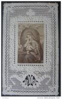 CANIVET DENTELLE Fin XIXème (1870): LA VIERGE A L´ENFANT - HOLY CARD SANTINO - Images Religieuses