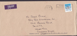 Ireland Par Avion Aerphost Label BAILE ATHA CLIATH 1997 Cover Lettre To California USA - Airmail