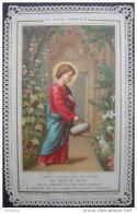 CANIVET DENTELLE Et Chromo Fin XIXème : JESUS CHRIST LE DIVIN JARDINIER - HOLY CARD - SANTINO - Images Religieuses