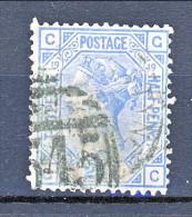 UK 1880-81 Victoria - N. 62 - 2,5 Penny Azzurro CG Tavola 19  Usato - Used Stamps