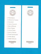 Cartes Parfumées Carte  Collection Hermessence De  Hermès 11 FRAGRANGES - Perfume Cards