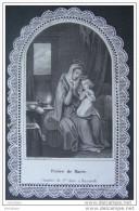 CANIVET DENTELLE Vers1870 ENFANCE DE MARIE LA CHAMBRE DE Sainte ANNE A NAZARETH  / HOLY CARD / SANTINI - Images Religieuses