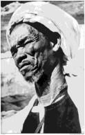 Tchad-ZOUAR -Le Derd� Kichedimi chef des Toubous du Tibesti-Clich� Bourdelon