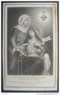 IMAGE PIEUSE Début 1900: LE SACRE COEUR DE JESUS IMPLORE PAR MARIE POUR LE SALUT DE LA FRANCE /  HOLY CARD SANTINO - Images Religieuses