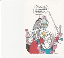 CABU -CARTE POSTALE EMISE EN 1989 -BICENTENAIRE DE LA REVOLUTION FRANCAISE . - Cabu