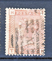 UK 1880-81 Victoria - N. 68 - 1 Penny Bruno Rosso HT Usato - Used Stamps