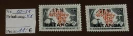 Katanga  Michel Nr:  50 -51  ** MNH Postfrisch  #4447 - Katanga