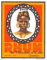 """0865 """"RHUM DES PLATANTIONS DE LUCEA JAMALQUE - EVITA""""  ETICHETTA ORIGINALE. - Rhum"""