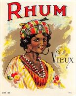 """0866 """"RHUM VIEUX""""  ETICHETTA ORIGINALE. - Rhum"""