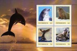 ÖSTERREICH 2011 ** Delfin, Wale, Walross, Seelöwen Baby - PM Personalizied Stamps - Block MNH - Ohne Zuordnung