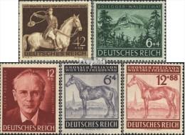 Deutsches Reich 854,855-856,857-858 (kompl.Ausg.) Mit Falz 1943 Pferderennen, Rosegger - Unused Stamps