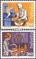 Schweiz 1463-1464 (kompl.Ausgabe) Postfrisch 1992 Mensch Und Beruf - Switzerland