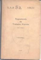 REGLAMENTO DE TRABAJOS HIPICOS AÑO 1936 92 PAGINAS MAS MUCHAS OTRAS PARA ANOTACIONES EDITADO EN LOS TALLERES DEL INSTITU - War 1914-18