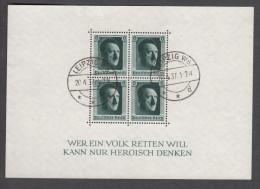 """Deutsches Reich - 1937 - Block 7 (o) """"20.4"""" - Deutschland"""