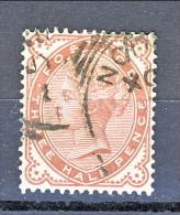 UK 1880-81 Victoria - N. 69 - 3 Mezzi Penny Bruno Rosso, USATO - Used Stamps