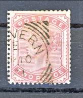 UK 1880-81 Victoria - N. 70 - 2 Penny Rosa Carminio Annullo Malvern - Used Stamps
