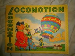 ANCIEN PETIT LIVRE ENFANT COLORIAGE  LOCOMOTION ANNEE 1951 - Livres, BD, Revues