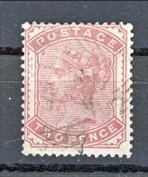 UK 1880-81 Victoria - N. 70 - 2 Penny Rosa Carminio Usato - Used Stamps